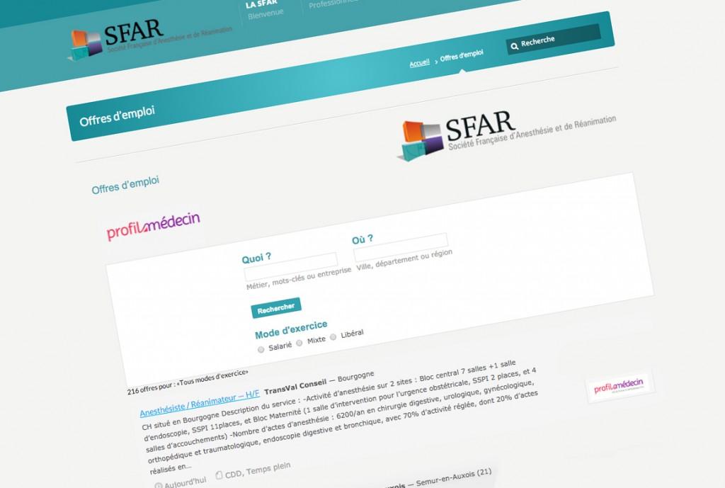 emploi SFAR médecins